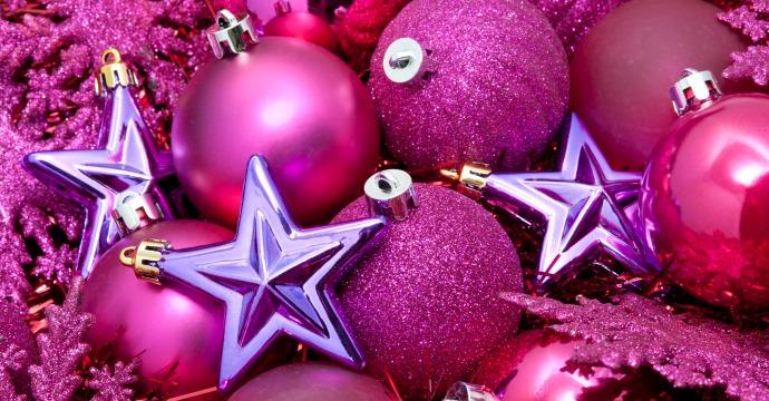 Pink and purple Christmas