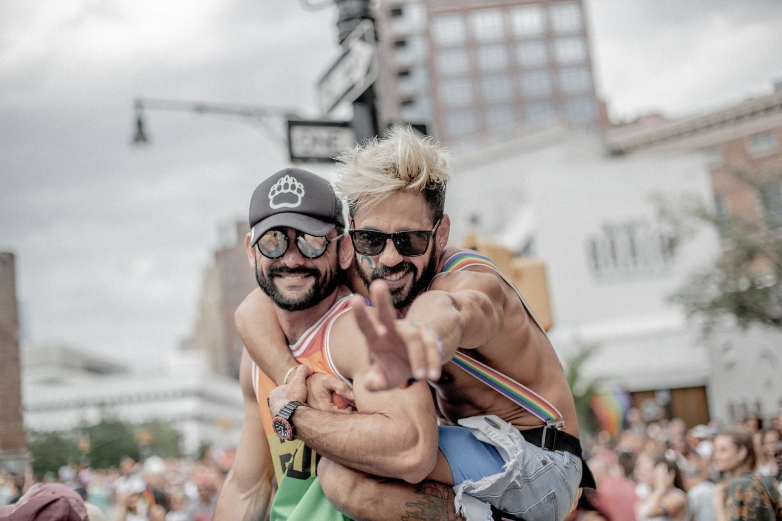 Two men at LGBT event